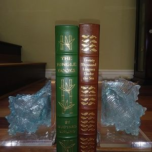 Acrylic Conch Bookends NWT